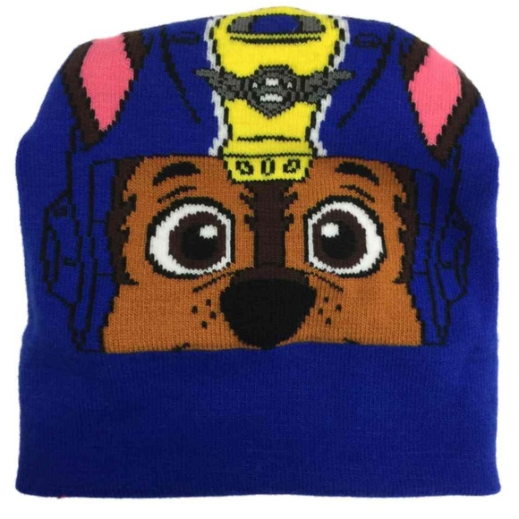 Little Boys Paw Patrol Chase Reversible Knit Hat /& Gloves